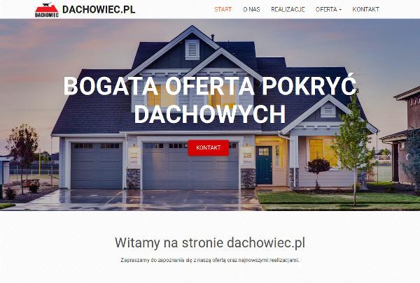 Projekt strony internetowej dachowiec.pl