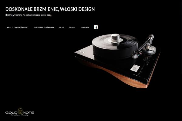 Projekt strony internetowej goldnote.pl